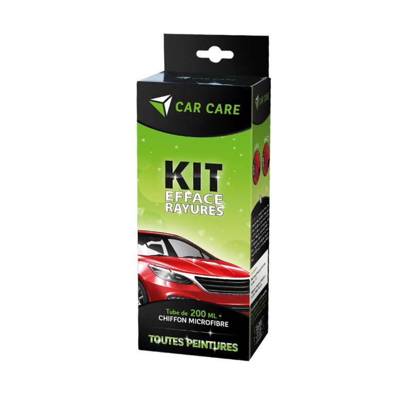 Kit efface-rayures 200 ml + chiffon microfibre